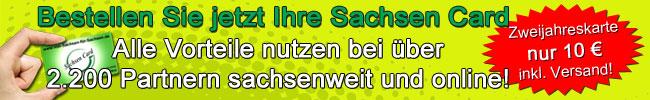 ... clever gespart mit Sachsen Card